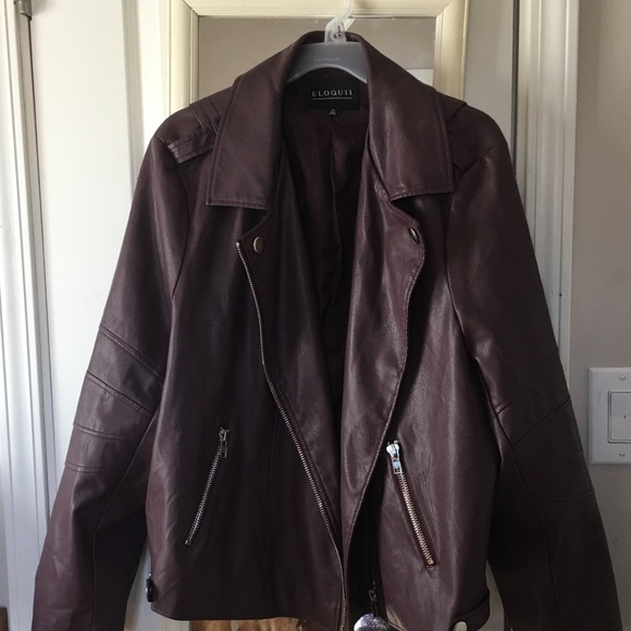 0f093a11da518a Eloquii Jackets & Coats | Burgundy Faux Leather Jacket | Poshmark